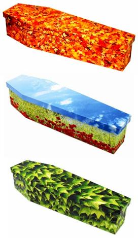 lovely colored coffins