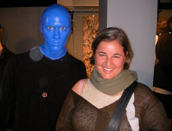 Me and an actor from Blue man group