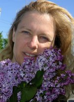 natalie with Lilac blossoms